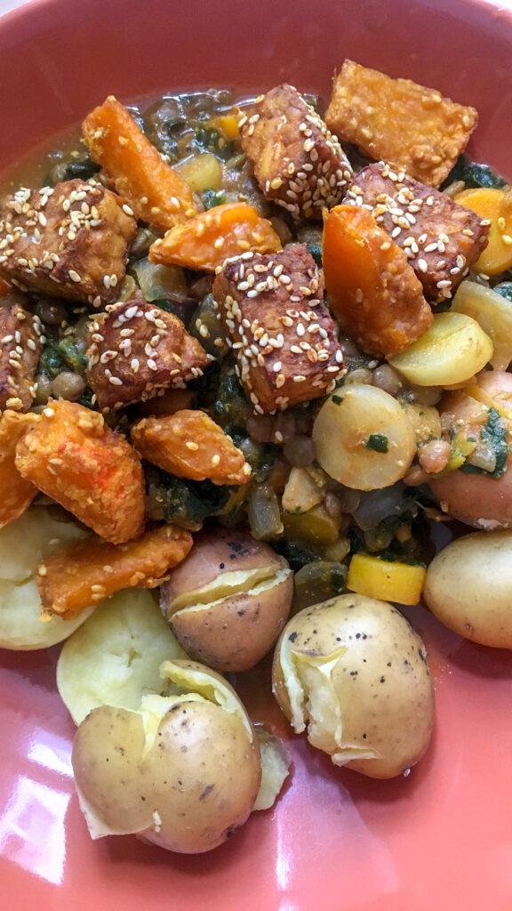 Yogi-Küche: Linsen-Spinat-Gericht
