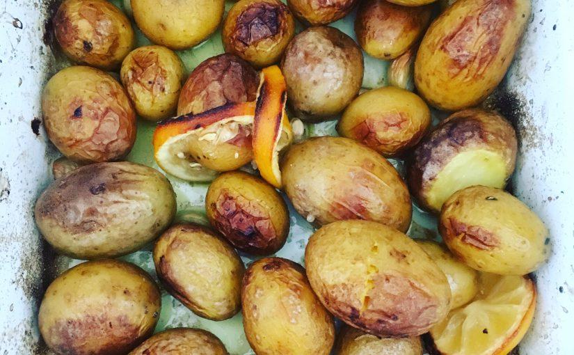 Zitronen-Knoblauch-Kartoffeln