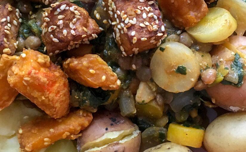 Linsen-Spinat-Gericht
